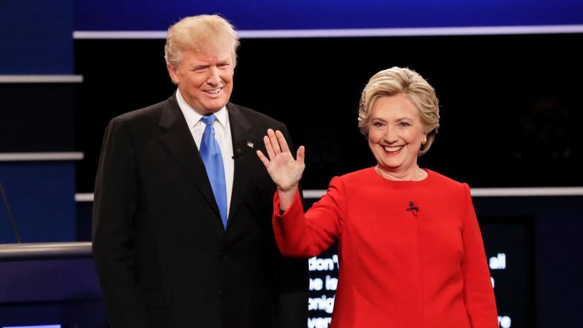 Trump and Clinton at first debate