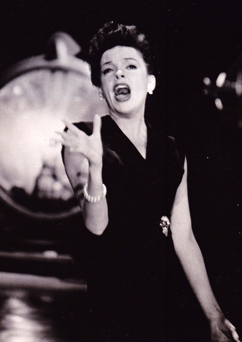 Judy Garland sings on her variety show, The Judy Garland Show.