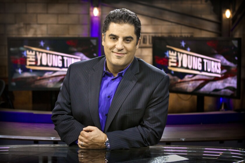 Cenk Uygur, photographed at Current TV in 2011.