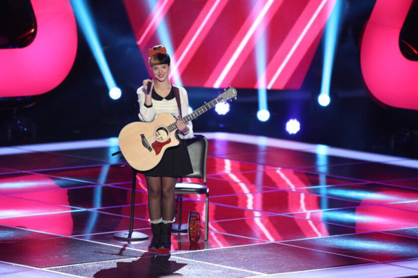 """Melanie Martinez performs at the """"Blind Auditions"""" for NBC's """"The Voice."""""""