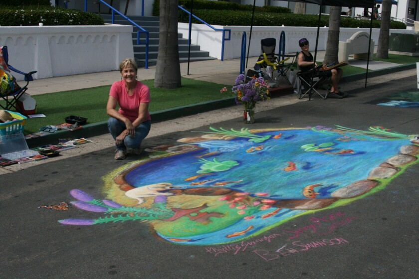 Street chalk art from a previous Oceanside Days of Art event.