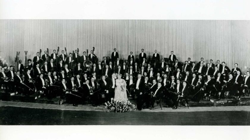 The newly formed Los Angeles Philharmonic, circa 1919. Nearly a century ago, founder W.A. Clark Jr.
