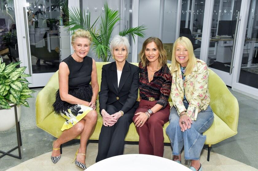 Visionary Women President Shelley Reid, left, Jane Fonda, organization board member Angella Nazarian and Beverly Hills City Councilmember Lili Bose.