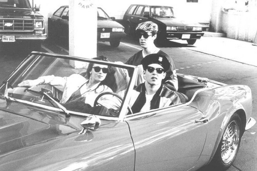 """Mia Sara, Alan Ruck and Matthew Broderick in the movie """"Ferris Bueller's Day Off."""""""