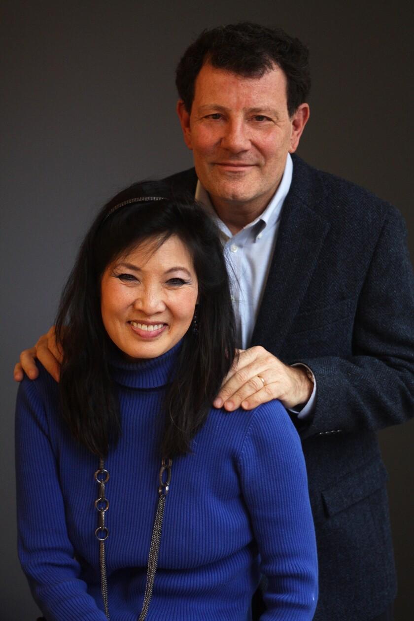 Journalists Sheryl WuDunn and Nicholas D. Kristof