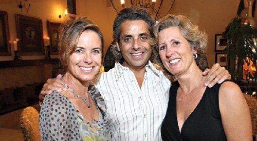 Hosts Erin and Tony Smith with Juliette Widholm (Photo: Jon Clark)