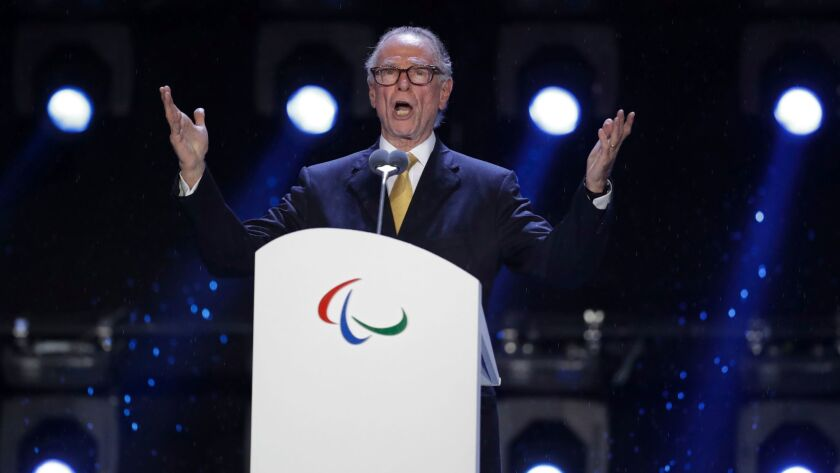 Carlos Nuzman speaks during the closing ceremony of the Rio Paralympic Games at Maracana Stadium on Sept. 18, 2016.