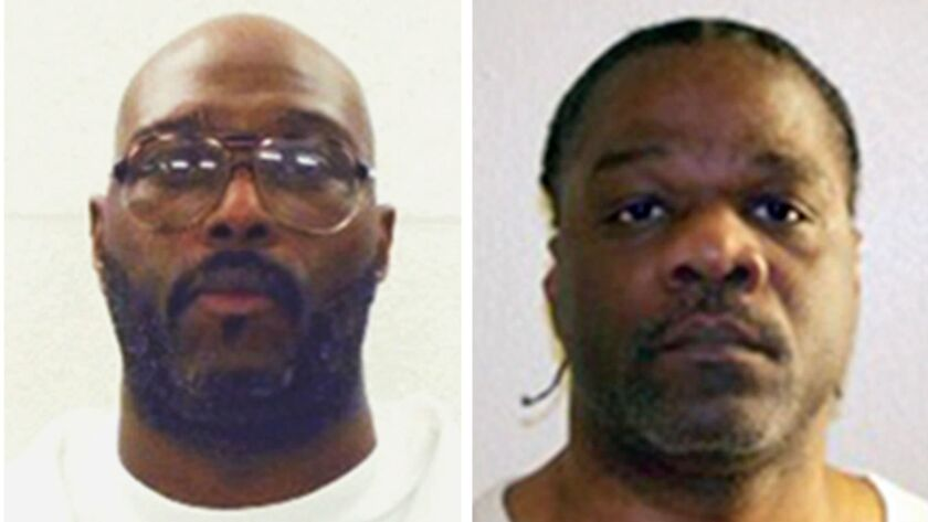 The executions of Stacey Johnson, left, and Ledell Lee, which had been scheduled for Thursday, face legal challenges including requests for DNA tests intended to prove their innocence.
