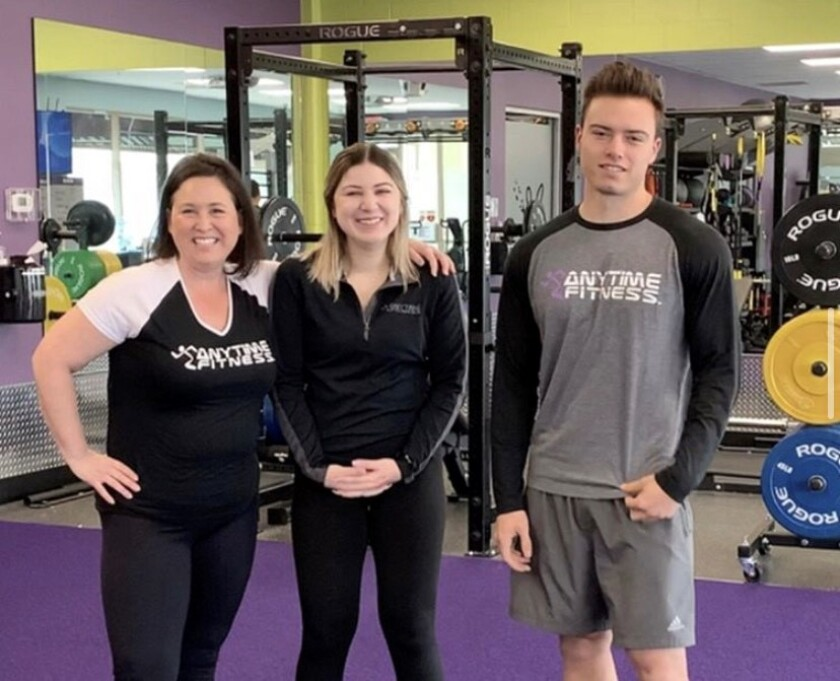 Antime Fitness staff Shanna Martinez, Bree Lopez and James Meskell.