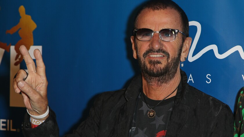 "Ringo Starr celebrates the revamp to ""Love."""