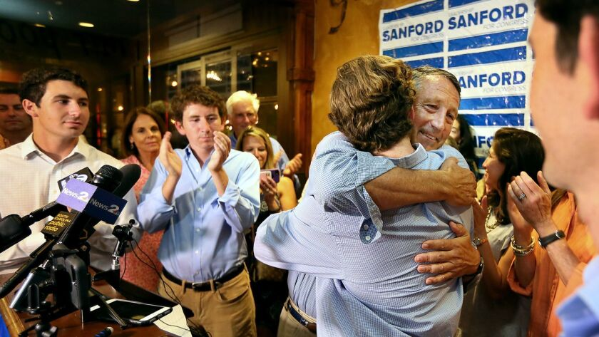 Rep. Mark Sanford's loss in South Carolina's GOP primary was his first election defeat and grew largely out of his criticism of President Trump.