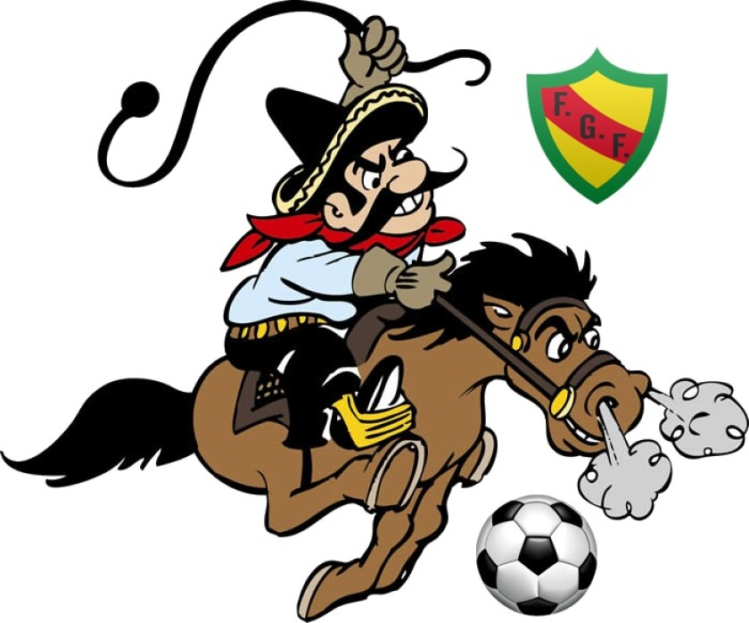 The original mascot of the Saddleback College Gauchos.