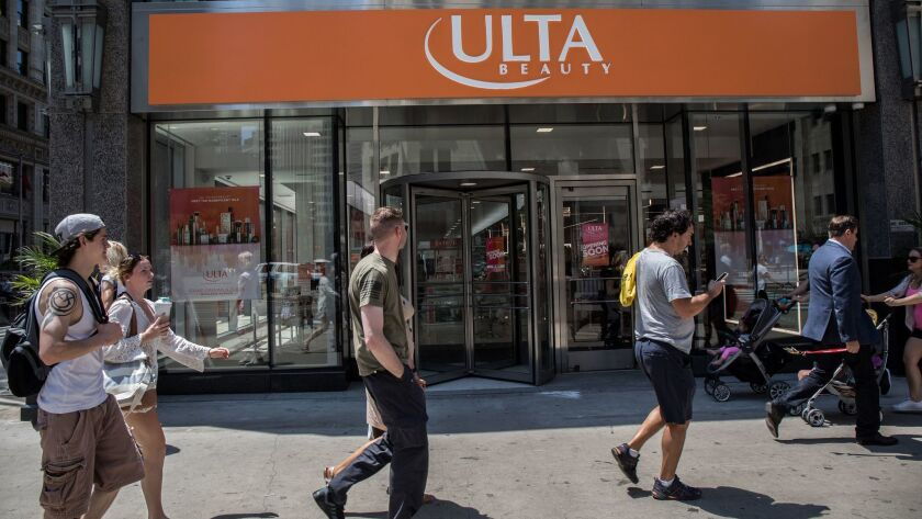A new Ulta Beauty store on Michigan Avenue in Chicago on Tuesday, June 13, 2017. (Zbigniew Bzdak/Ch