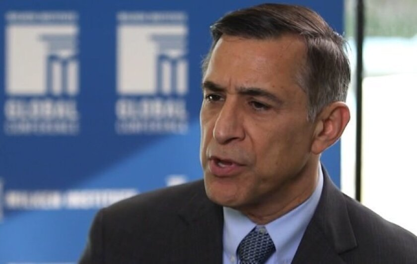 Rep. Darrell Issa respoinds to questions in an interview with CNN Money on  Thursday.