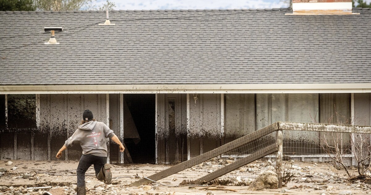 California winter storm mudslides cause injury, damage  - Los Angeles Times