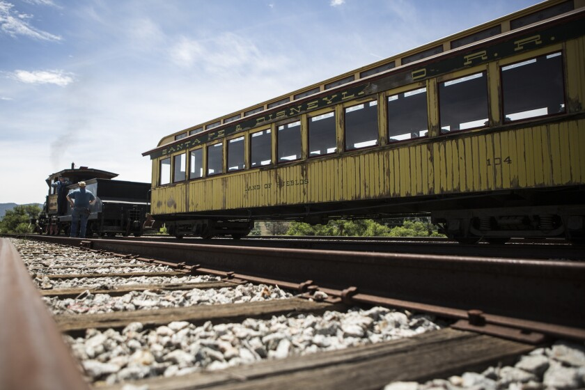 The Santa Margarita Ranch in San Luis Obispo County is home to the Pacific Coast Railroad, which features passenger cars that were once part of Disneyland's railroad attraction when the theme park opened in 1955.