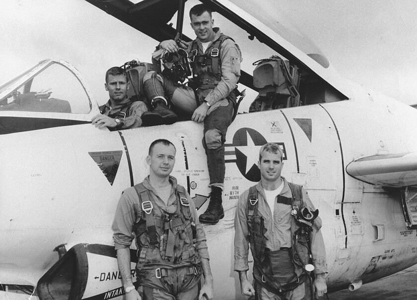 This photo provided by the Library of Congress shows John McCain, (front, right) with his squadron i