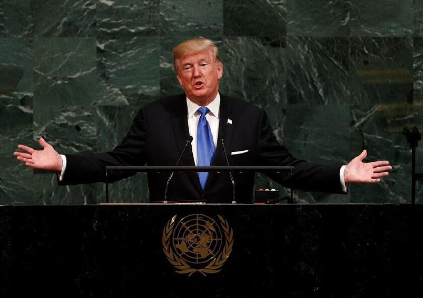 El presidente de Estados Unidos, Donald Trump. EFE/Archivo