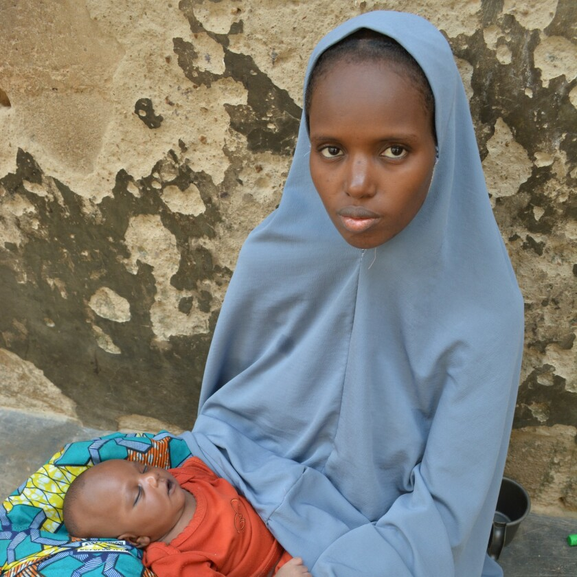 Maryam Adam, 25, once dreamed of becoming a nurse. Married off at 15 to an impoverished bricklayer, she lost a 2-month-old baby daughter in 2015 for lack of a few coins to get the girl to a hospital.