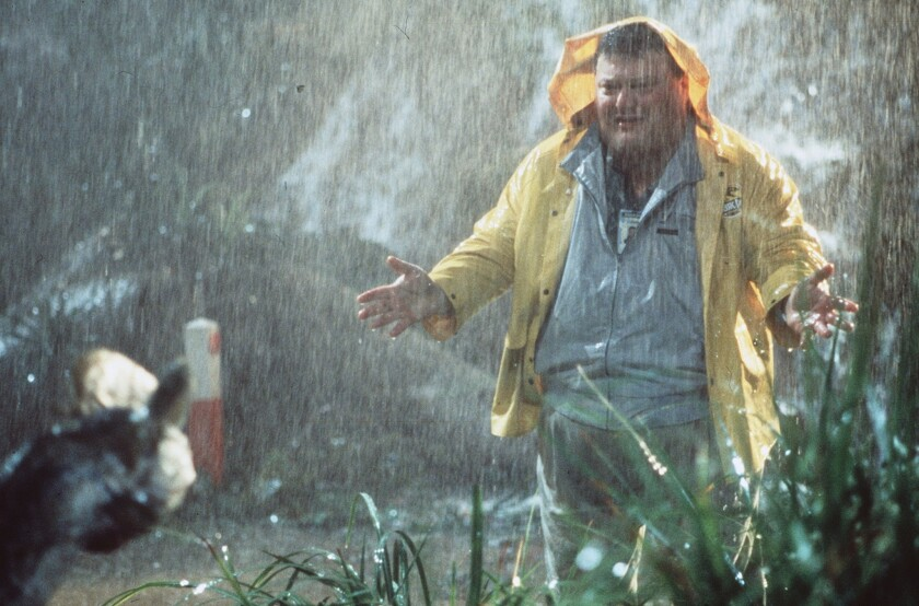 """The actor, shown here as a deceitful computer programmer in """"Jurassic Park,"""" responded humorously to Web rumors of his death."""