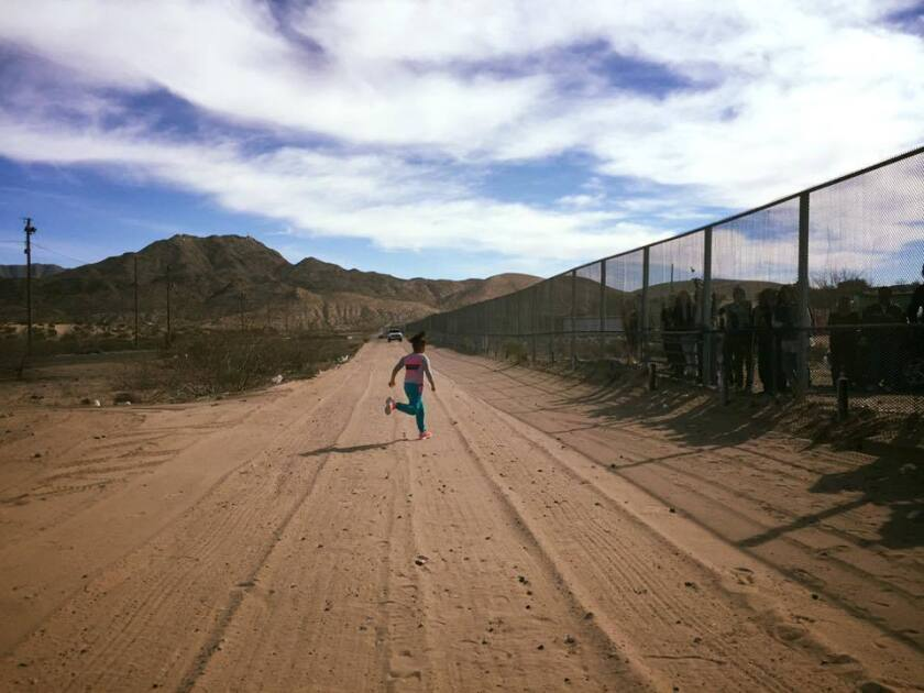 At the border fence