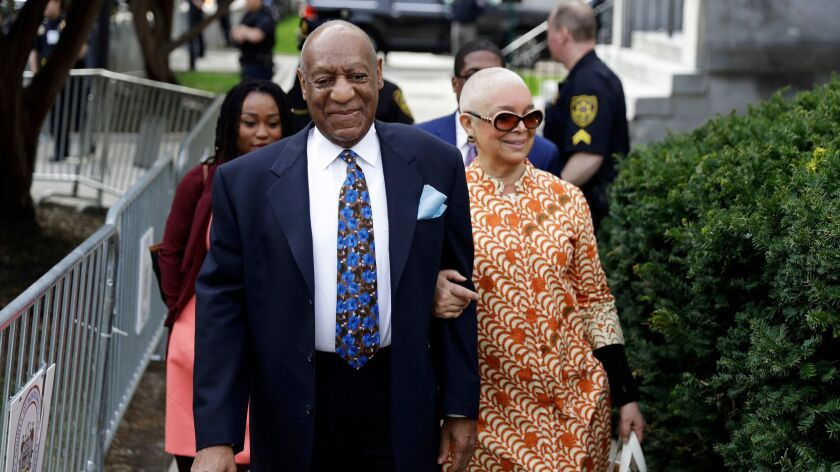 Bill Cosby with his wife, Camille, in April in Norristown, Pa.