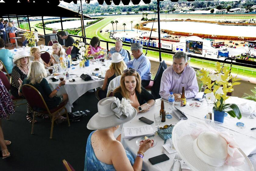 Guests relax between races