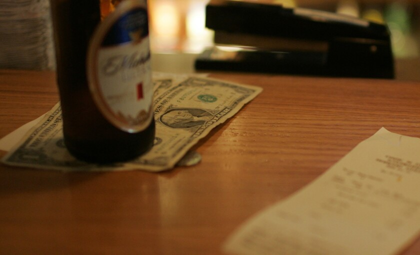 Most Americans tip less than 20% on bills and about one in 10 don't tip at all, a survey found.
