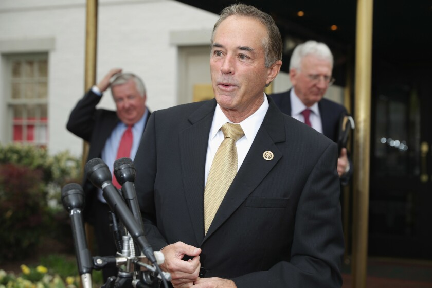 Rep. Chris Collins (R-NY), seen in a 2016 file photo, is on the board of directors of Innate Immunotherapeutics, an Australian firm whose stock fell sharply this week. He holds about 1/5 of the company's shares.