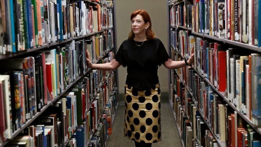 Author Susan Orlean at L.A.'s Central Library.