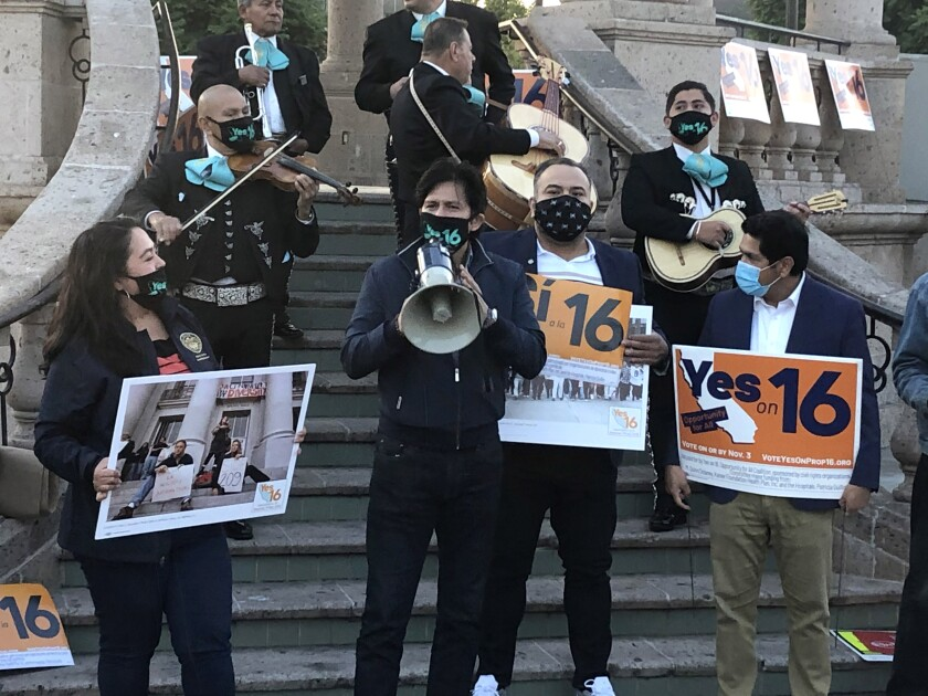 Rally in Boyle Heights for Prop. 16