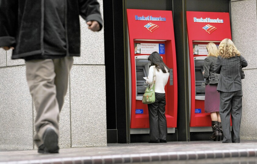 Banks falling under a new disclosure requirement took in about $438 million in ATM fees in the first quarter.