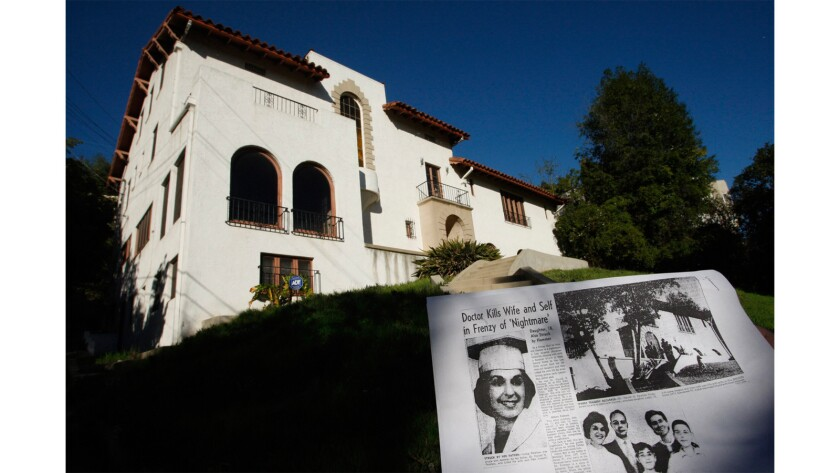 The house where an L.A. doctor killed his wife in 1959 in Los Feliz.