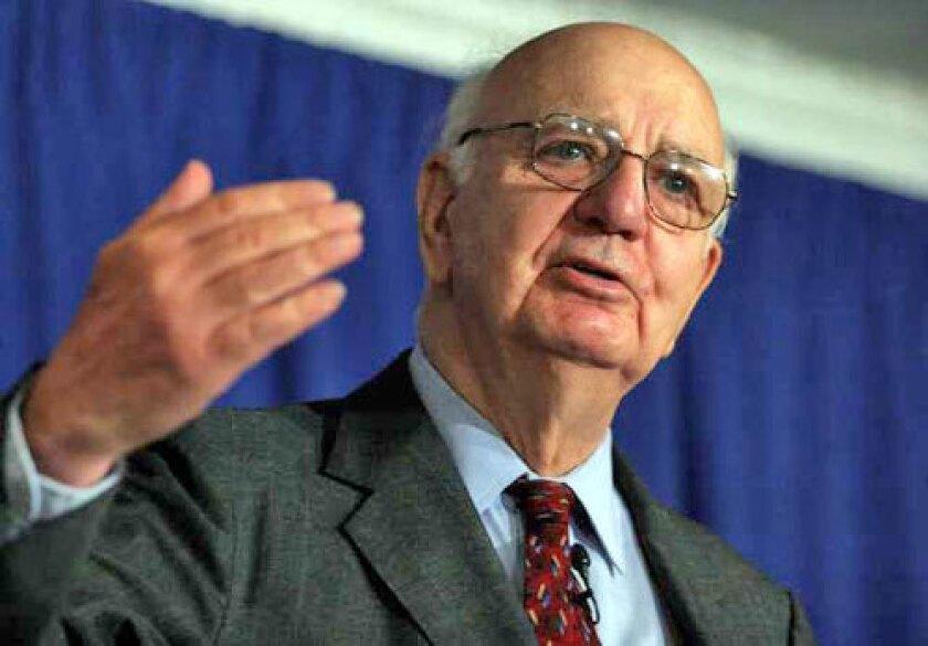 Ex-Fed Chairman Paul Volcker