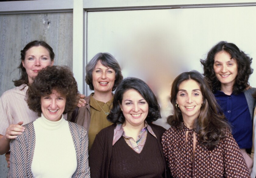 Joelle Dobrow, left, Nell Cox, Susan Nimoy, Dolores Ferraro, Lynne Littman and Vicki Hochberg.