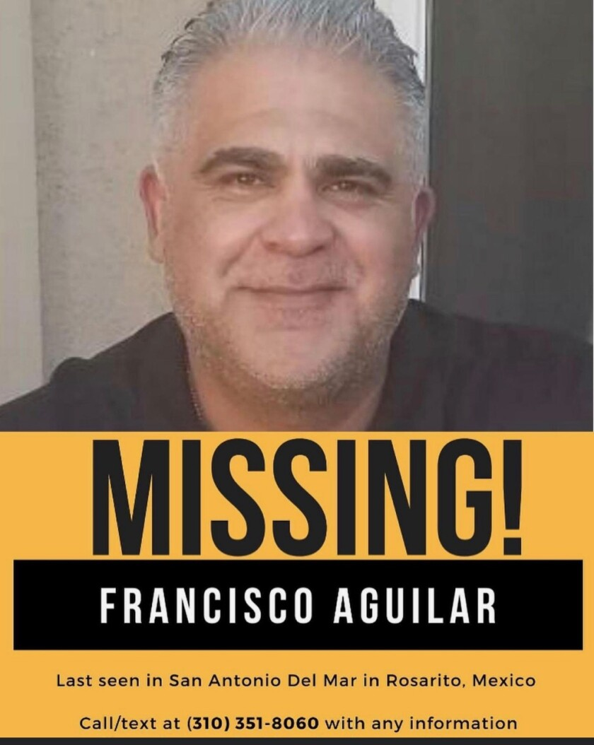 Flyer with the photo of the missing firefighter Francisco Aguilar
