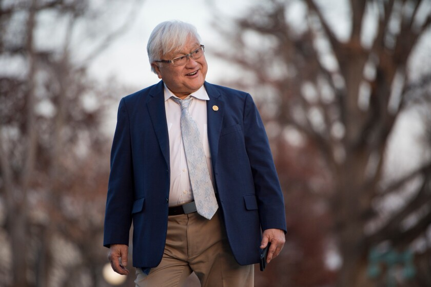 Rep. Mike Honda at the Capitol in 2015