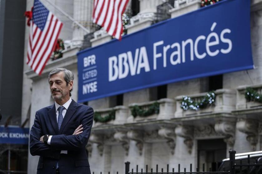 El presidente ejecutivo del BBVA Francés, Martín Zarich, posa para Efe a su llegada a la Bolsa de Nueva York (EE.UU.) hoy, martes 27 de noviembre de 2018. EFE