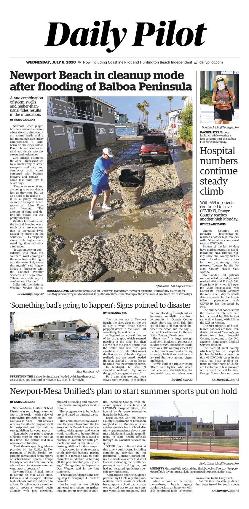 Daily Pilot e-Newspaper: Wednesday, July 8, 2020 Cover