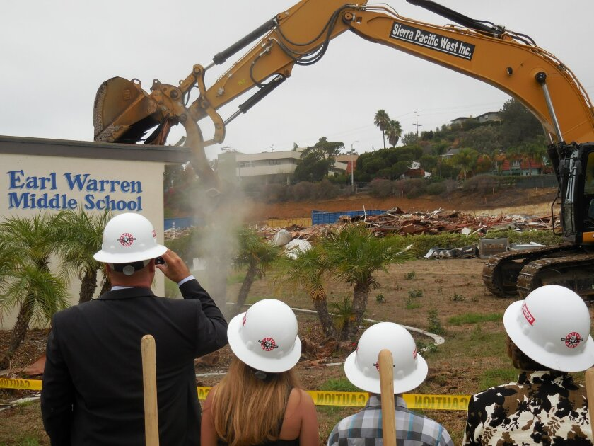 Part of the school's front office came down to mark the milestone.