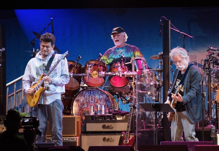 Dead & Company's John Mayer, Bill Kreutzmann and Bob Weir perform onstage in 2017.
