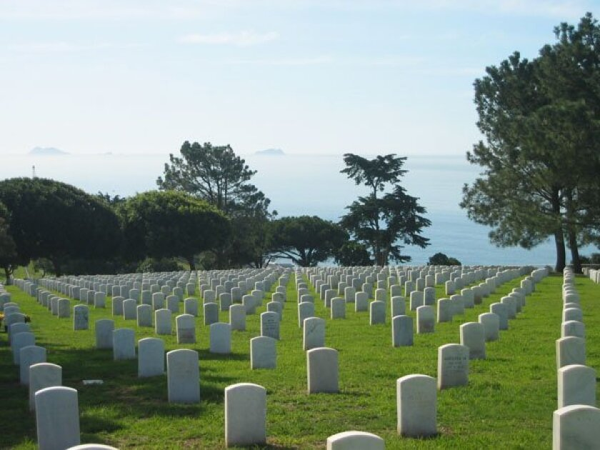 Volunteers will place wreaths throughout Fort Rosecrans National Cemetery. Photo: Courtesy on Saturday.