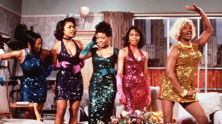 "Jamie Foxx (far right) as Ugly Wanda in ""In Living Color."""