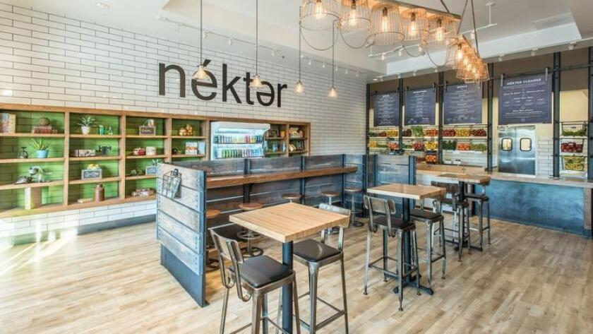Nekter officials say its products are made without processed ingredients, artificial flavors or added sugars. (Courtesy of Nekter)