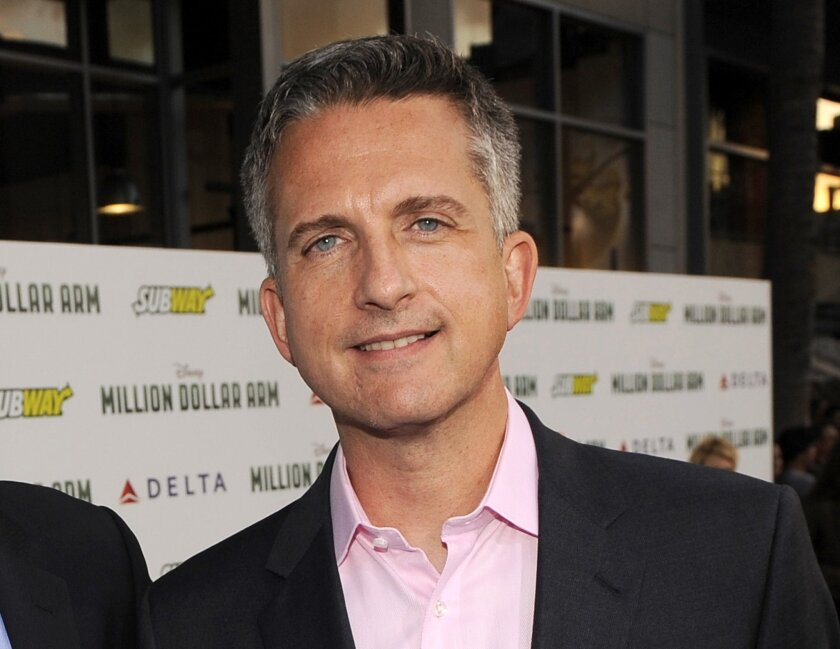 """In this May 6, 2014, file photo, Bill Simmons arrives at the world premiere of """"Million Dollar Arm"""" at El Capitan Theatre in Los Angeles."""