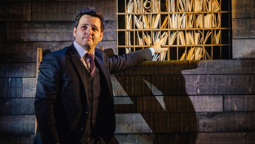 Derek DelGaudio's new show at the Geffen Playhouse in Westwood consists of stories, confessions, illusions and tricks.