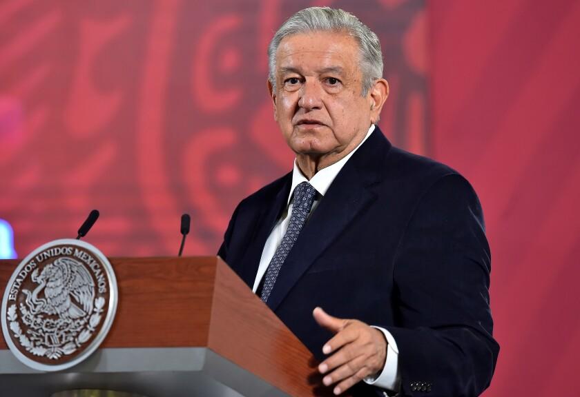 Fotografía cedida por la Presidencia de México que muestra al presidente mexicano, Andrés Manuel López Obrador
