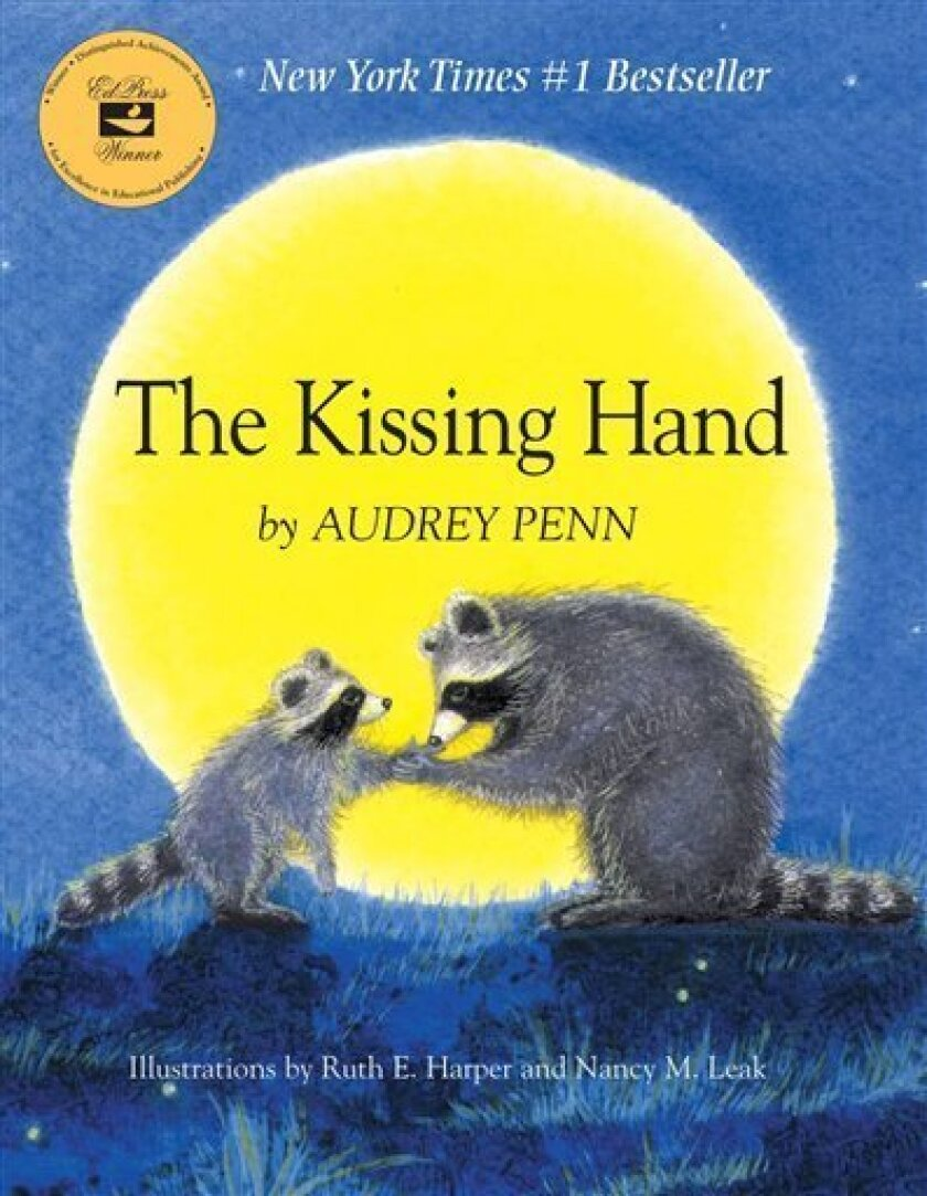 """This undated publicity photo provided by Tanglewood Press shows the cover of author Audrey Penn's book, """"The Kissing Hand."""" (AP Photo/Tanglewood Press)"""