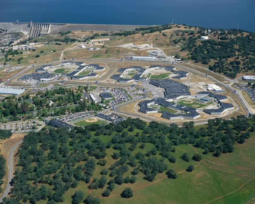 Aerial view of California State Prison Sacramento complex