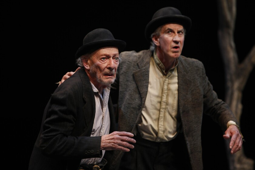 "Alan Mandell, left, and Barry McGovern in ""Waiting for Godot"" in 2012 at the Mark Taper Forum."